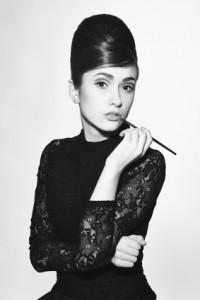 retro photo of fashionable style icon