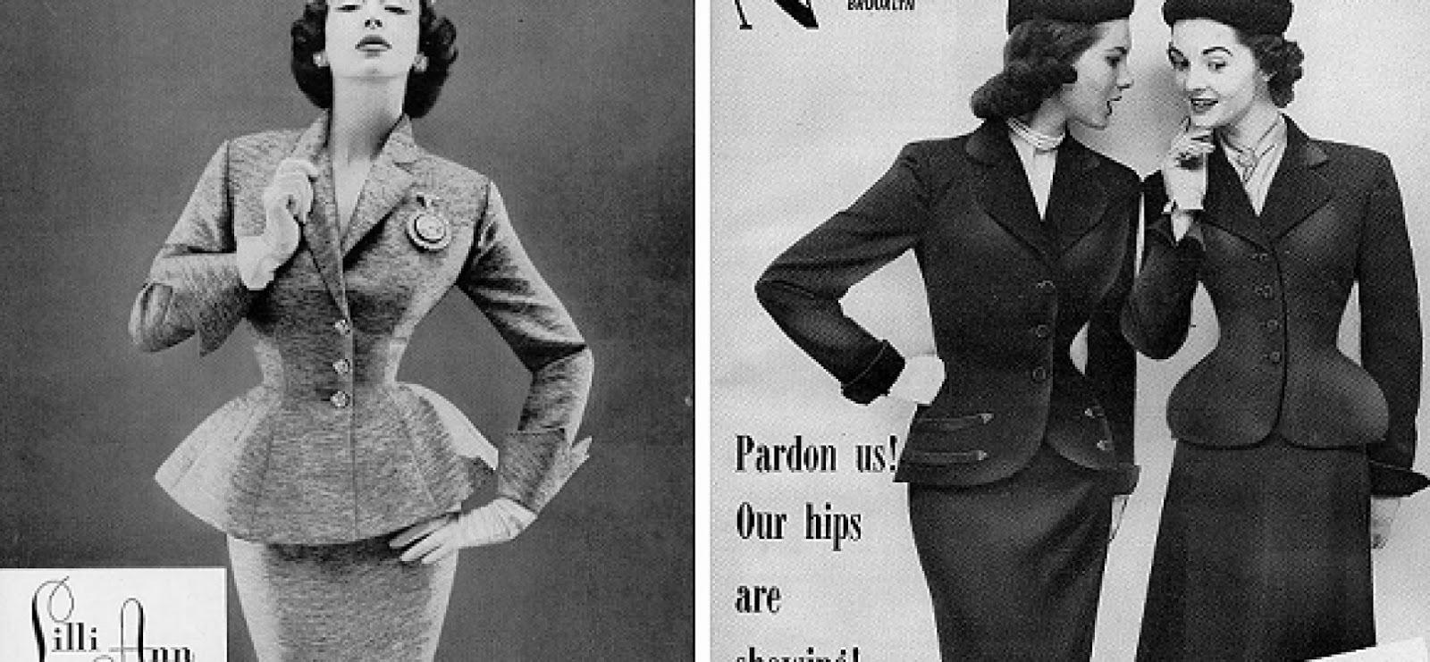 Moda in pillole il novecento gli anni 40 vanitystylemag for Storia della moda anni 50
